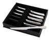 "Vagabond House Hammered Pewter Steak Knife Set of 6 7.5"" Long"