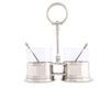 "Vagabond House Classic Pewter Double Condiment Server 9.5"" Tall"