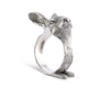 "Vagabond House Solid Pewter Metal Rabbit Napkin Ring 2.75"" Tall  (Sold as Single Ring)  Artisan Crafted Designer Rings"