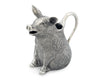 "Vagabond House Happy Pewter Pig Creamer 4"" Long x 3.75"" Tall"