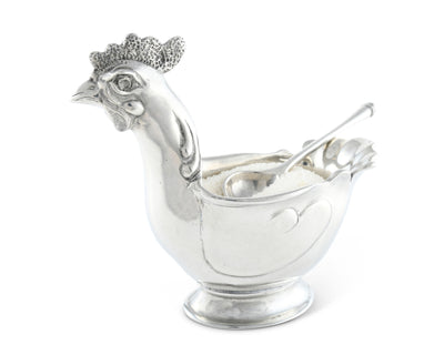 "Vagabond House Hen Sugar Bowl with Spoon 6"" Long  x 5"" Tall"