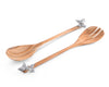 "Vagabond House Acacia Wood Salad Server with Pewter Butterfly 13.25"" Long"