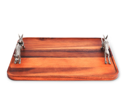 Hopping Bunny Wood Tray