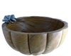 Vagabond House Hand Carved Acacia Wood Salad Serving Bowl with Pewter Autumn Vine Décor 12.5 Inches Wide x 6 Inches Tall