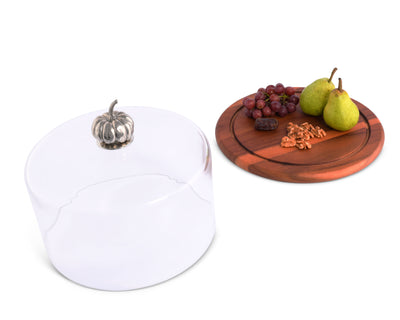 Pumpkin Glass Covered Cheese Wood Board
