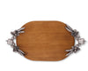 Vagabond House Pewter Veggie Oval Wood Cheese Tray Charcuterie Platter & Serving Tray 22 Inches Long
