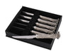 "Vagabond House Pewter Cast Antler Forged Steak Knife Set of 6 9"" Long"