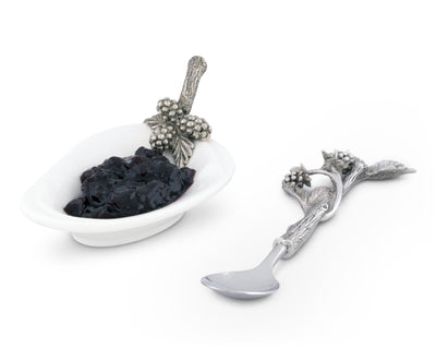 Blackberry Jam Server / Spoon Rest