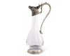 "Vagabond House Wine Decanter Handblown Glass with Pewter Deer Head Spout and Pewter Handle and Base  12.5"" T 32oz"