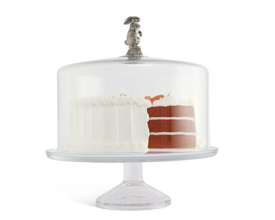 Bunny Glass Covered Cake / Dessert Stand