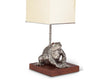 "Vagabond House Pewter Toad Lamp with Shade 38"" Tall"