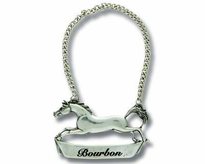 Pewter Galloping Steed Decanter Tags