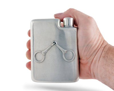 Equestrian Pewter Flask