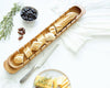 Baguette Board with Wheat Pattern Bread Knife