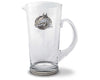 "Vagabond House Equestrian Horseshoe Glass Pitcher  Water Jug for Cold Water, Ice Tea and Juice Beverage 9.5"" Tall 64 oz."