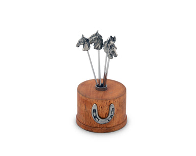 "Vagabond House Equestrian Cheese Pick Set 3.5"" Tall (6 Picks In Set)"