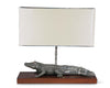 "Vagabond House Pewter Alligator Lamp with Shade 8.5"" Wide x 26"" Long x 23.5"" Tall"