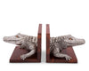 "Vagabond House Pewter Alligator Bookends 6.5"" Tall"