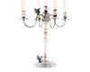"Vagabond House Five Taper Pewter Metal Song Bird Candelabrum 12.5"" Wide x 16"" Tall Candelabra"