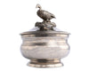 Vagabond House Duck Soild Pewter Covered Sauce / Dip / Soup Bowl Formal Dining Everyday Décor 5 Inch Diameter x 6 Inch Tall