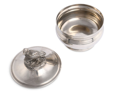 Pewter Duck Sauce Bowl
