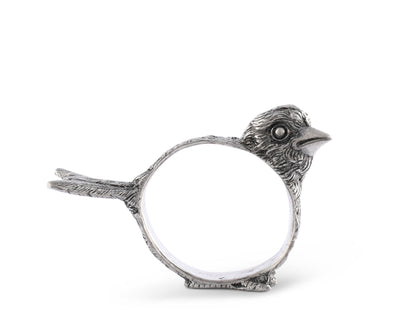 Pewter Song Bird Profile Napkin Ring