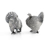 "Vagabond House Pewter Thanksgiving Turkey Salt and Pepper Shaker Set 2.25"" Tall"