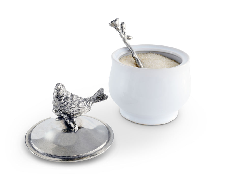 Vagabond House Song Bird Sugar Bowl and Spoon