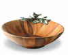 "Vagabond House Acacia Wood Large Salad Serving Bowl with Pewter Song Bird 16""  Wide"