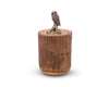 "Vagabond House Owl Wood Canister 9"" Tall"