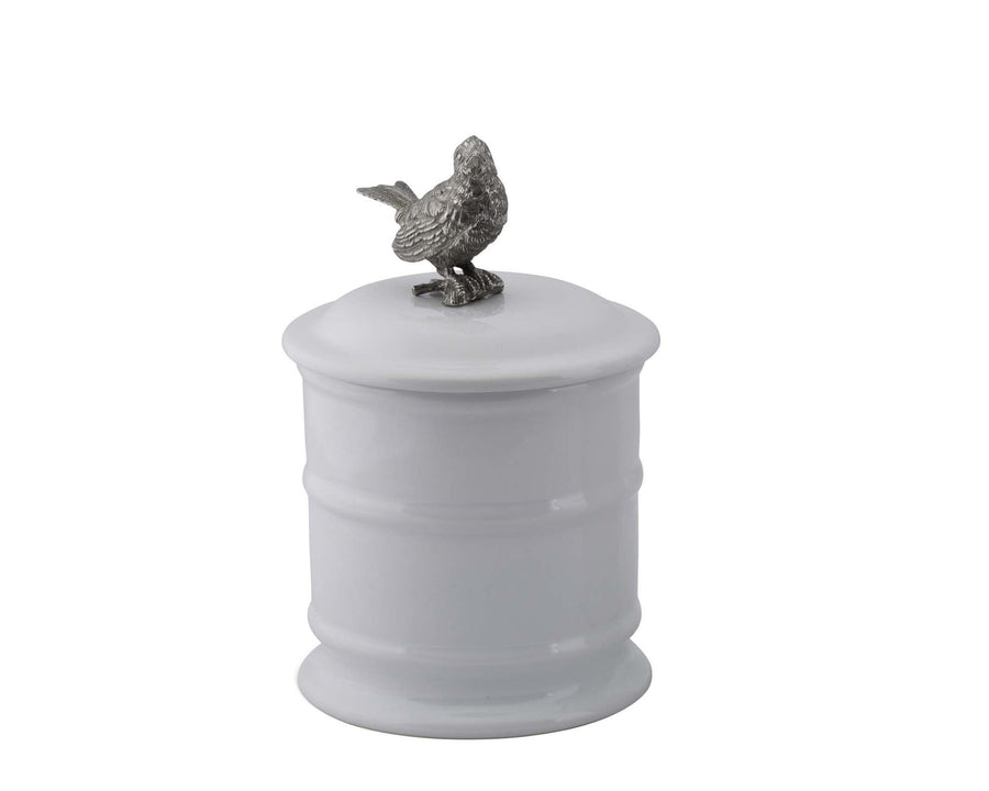 Stoneware Canister - Tall - Song Bird  Vagabond House
