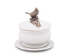 Songbird Porcelain Lidded Bowl