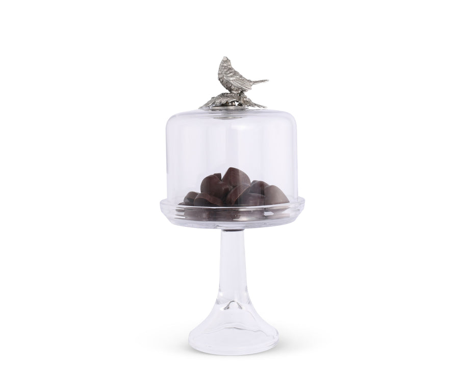 Glass Dome Stand - Tall - Song Bird  Vagabond House