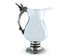 "Vagabond House Oak Leaf Pitcher | Handmade for Soild Pewter Metal with Handle of Pewter Oak Acorn and Leaves 10"" Tall"
