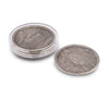 "Vagabond House Pewter Faux Wood Coaster (set of 6) 4.5"" Diameter"