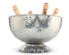 "Vagabond House Pewter Charter Oak Ice Tub Punch Bowl 18.5"" Wide x 11"" Tall"