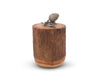 "Vagabond House Pine Cone Wood Canister 9"" Tall"