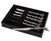 "Vagabond House Pewter Acorn Pattern Steak Knife Set of 6 8"" Long (Set of 6)"