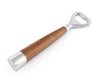 Vagabond House Modern Tribeca Collection Bottle Opener; Pewter and Teak Handles Mid Century Modern Danish Style