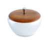 Vagabond House Tribeca Collection Pewter Dip Bowl with Teak Lid