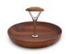 "Vagabond House Tribeca Collection Pewter and Teak Tidbit Tray; 7.75"" Diameter Mid Century Modern"