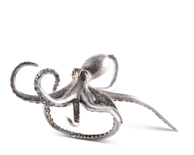 "Vagabond House Pewter Metal Octopus Sea Napkin Ring, 3.5"" Wide  (Sold as Single Ring)  Artisan Crafted Designer Ring"