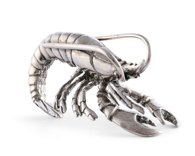 "Vagabond House Pewter Prawn Napkin Ring 4"" Long  (Sold as Single Ring)  Artisan Crafted Designer Ring"
