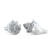 "Vagabond House Pewter Conch Shells Salt and Pepper Shaker Set 2"" Tall"