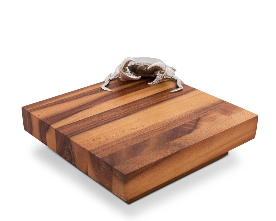 "Vagabond House Crab Cheese Board 10"" Squared x 4"" Tall"