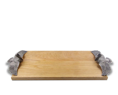 "Vagabond House Flying Pelican Wood Cheese Board Charcuterie Platter & Serving Tray24"" Long x 10"" Wide"