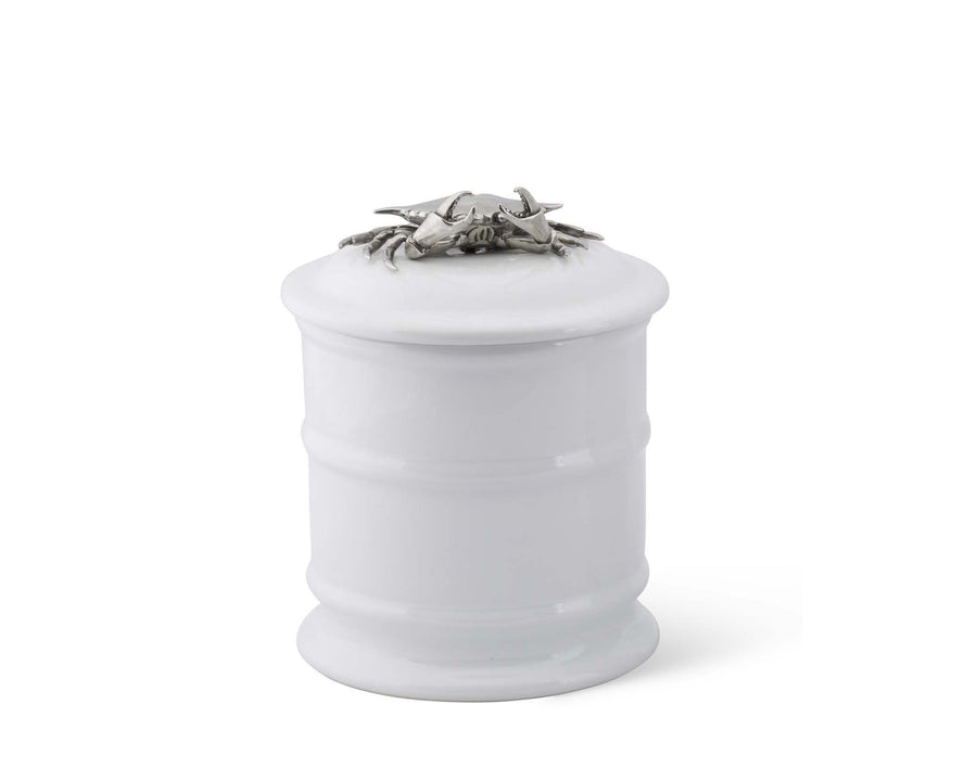 Stoneware Canister - Tall - Crab  Vagabond House