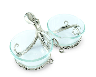 Octopus Double Condiment Bowls