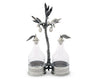 "Vagabond House Pewter Olive Oil & Vinegar Set 9.5"" Tall"