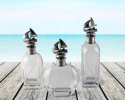 Liquor Decanter - Sail Boat Short  Vagabond House